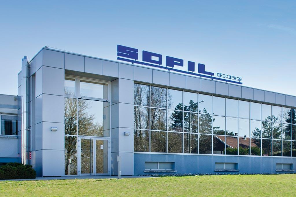 L'usine de SOPIL à Pirey près de Besançon dans le Doubs